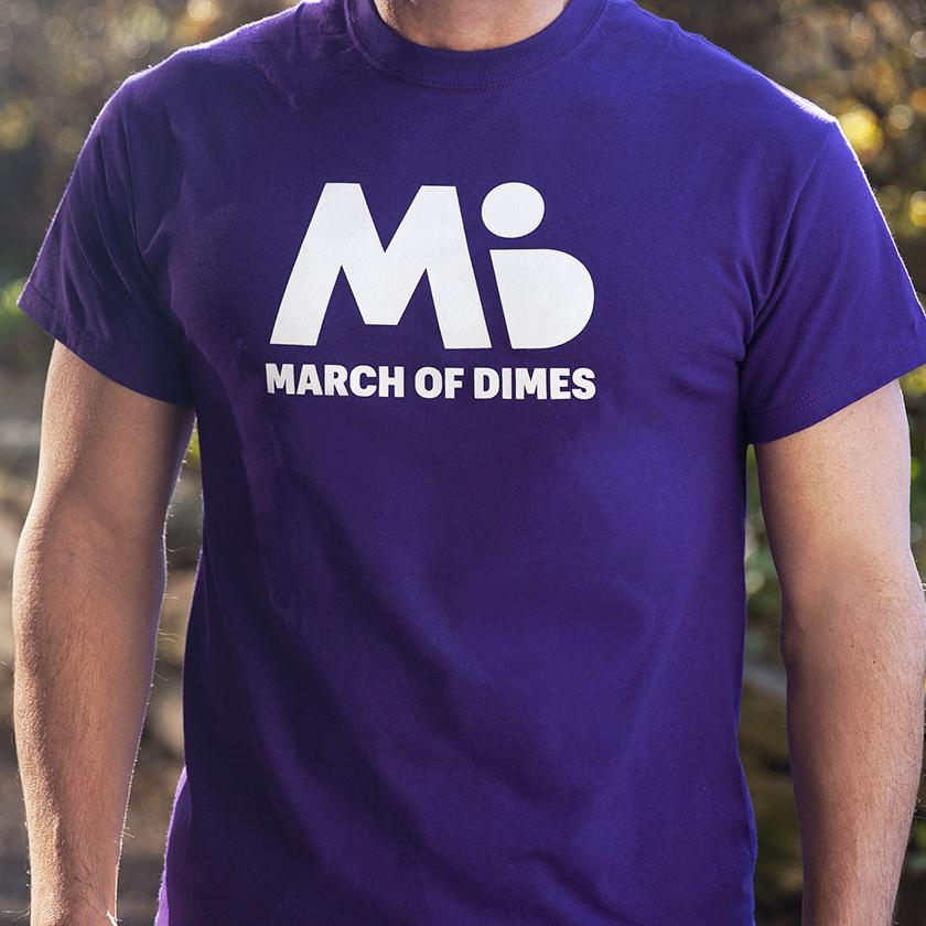 March of Dimes tee shirt