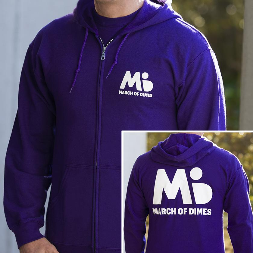 March of Dimes hoodie sweatshirt