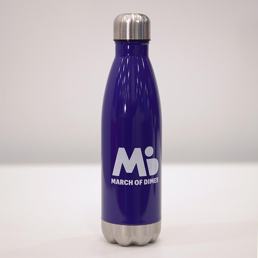 March of Dimes water bottle